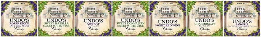 Undos Wine Labels